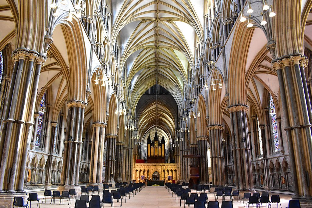 Lincoln Cathedral inside nave