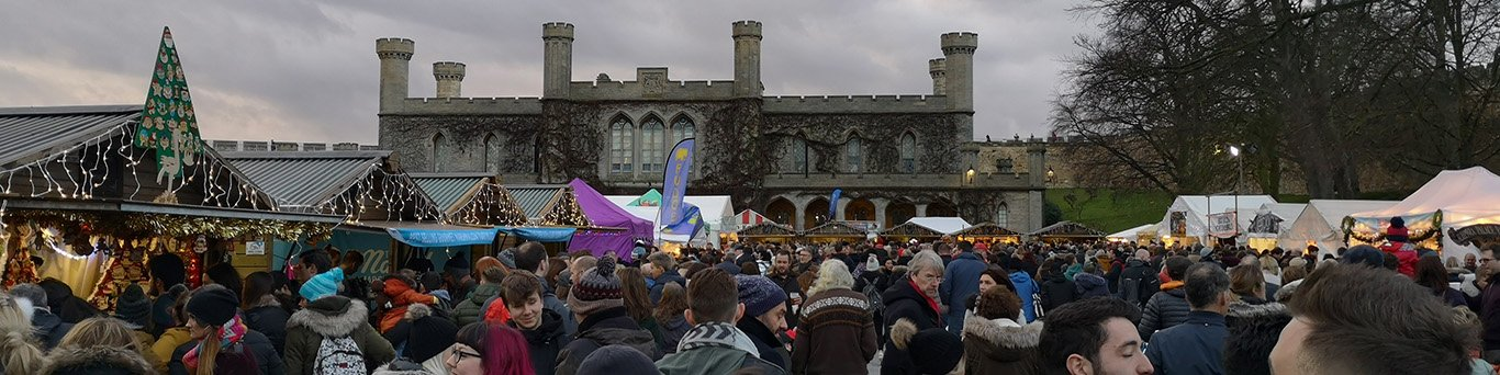 Lincoln Christmas Market in the castle grounds