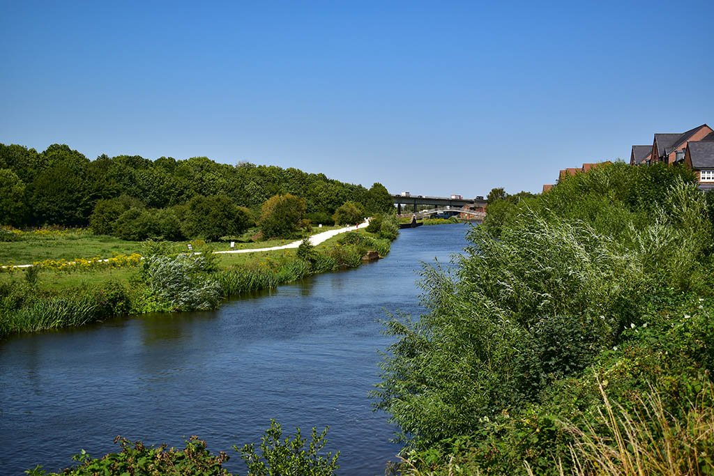 A walk on the River Trent is one of the more leisurely things to do in Newark