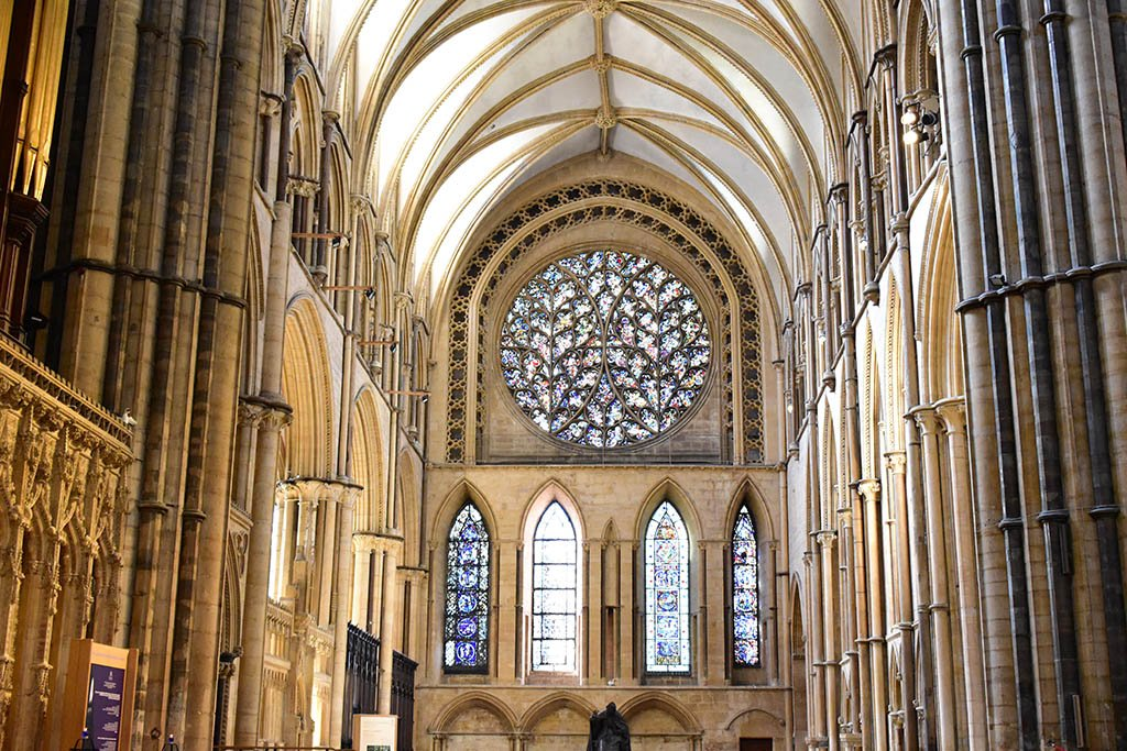 The Bishop's Eye rose window Lincoln Cathedral