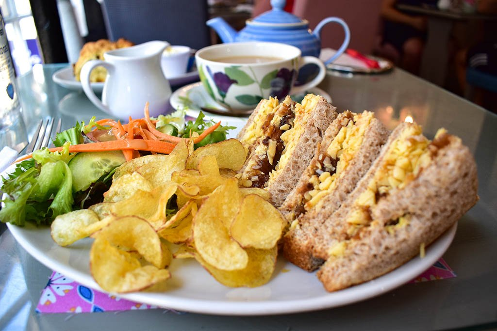 Bells Tea Shop cheese sandwiches