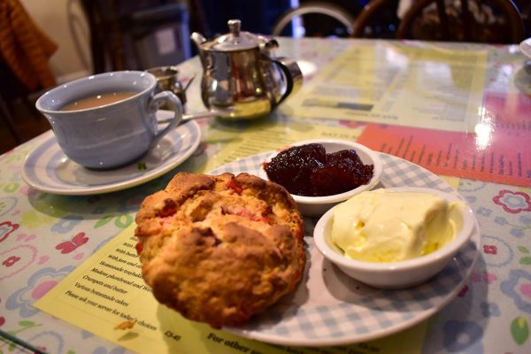 Scone with jam and clotted cream at Grayz Tea Room