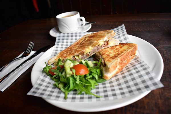 Stokes High Bridge Cafe Lincolnshire sausage toastie
