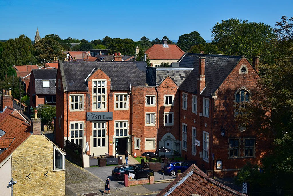 The Castle Hotel Lincoln from above