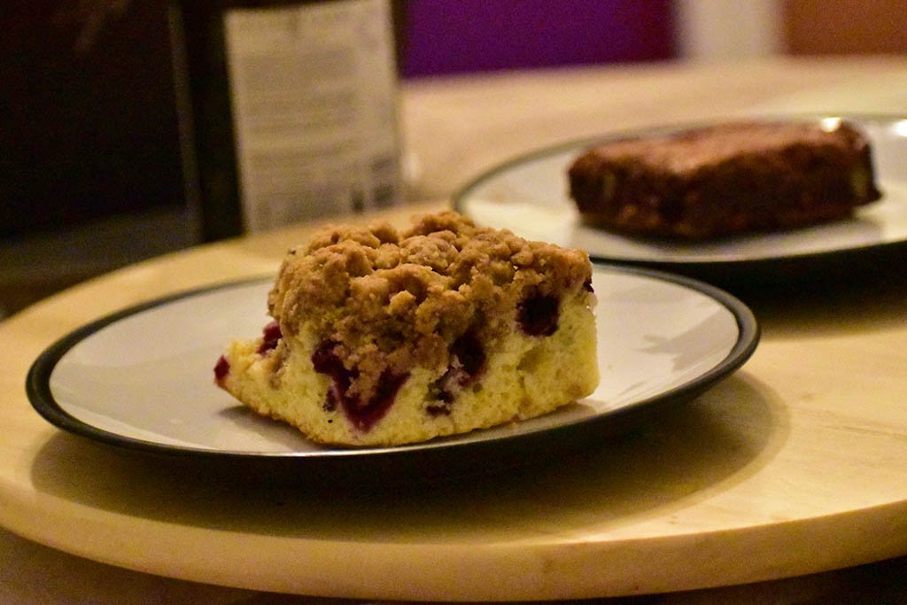 Tasty New York style crumbcakes and brownies from Vine's Bakery in Lincoln
