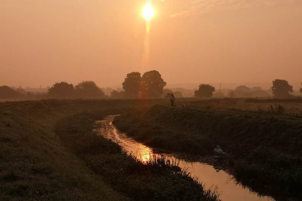 Catchwater Drain Lincoln sunset