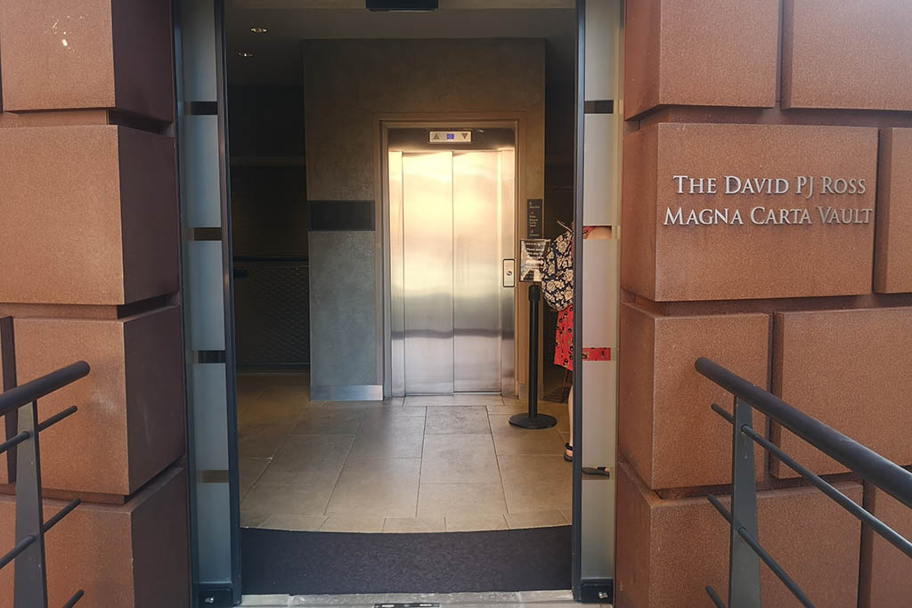 David PJ Ross Magna Carta Vault