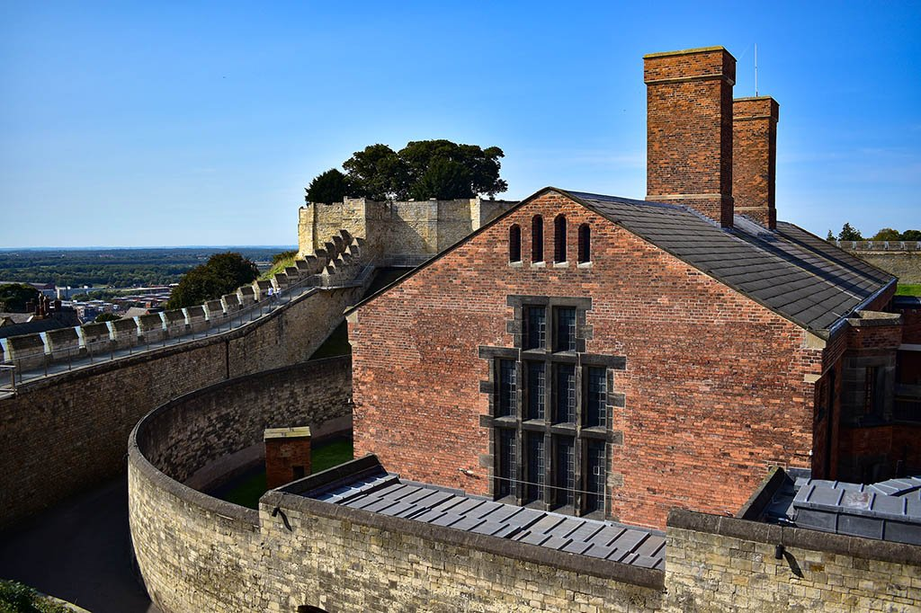 Lincoln Castle Victorian Prison from walls