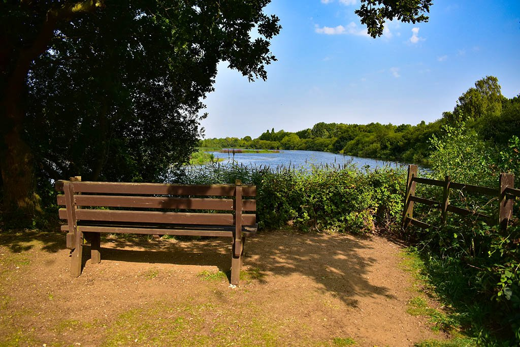 Whisby Nature Park bench