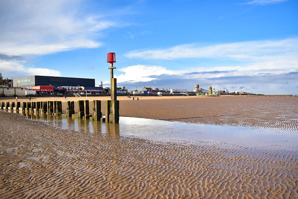 Cleethorpes beaches in Lincolnshire