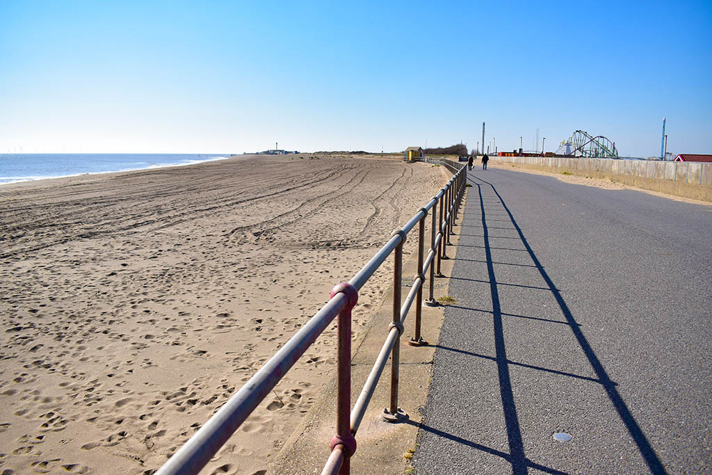 Ingoldmells beaches in Lincolnshire