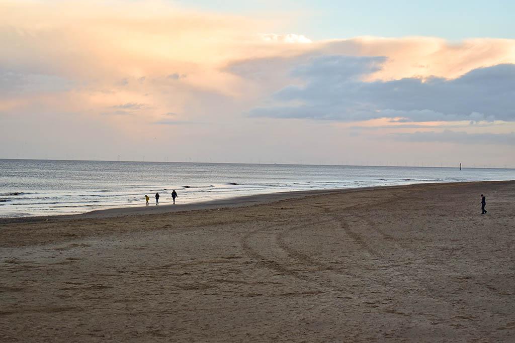 Mablethorpe beach sunset
