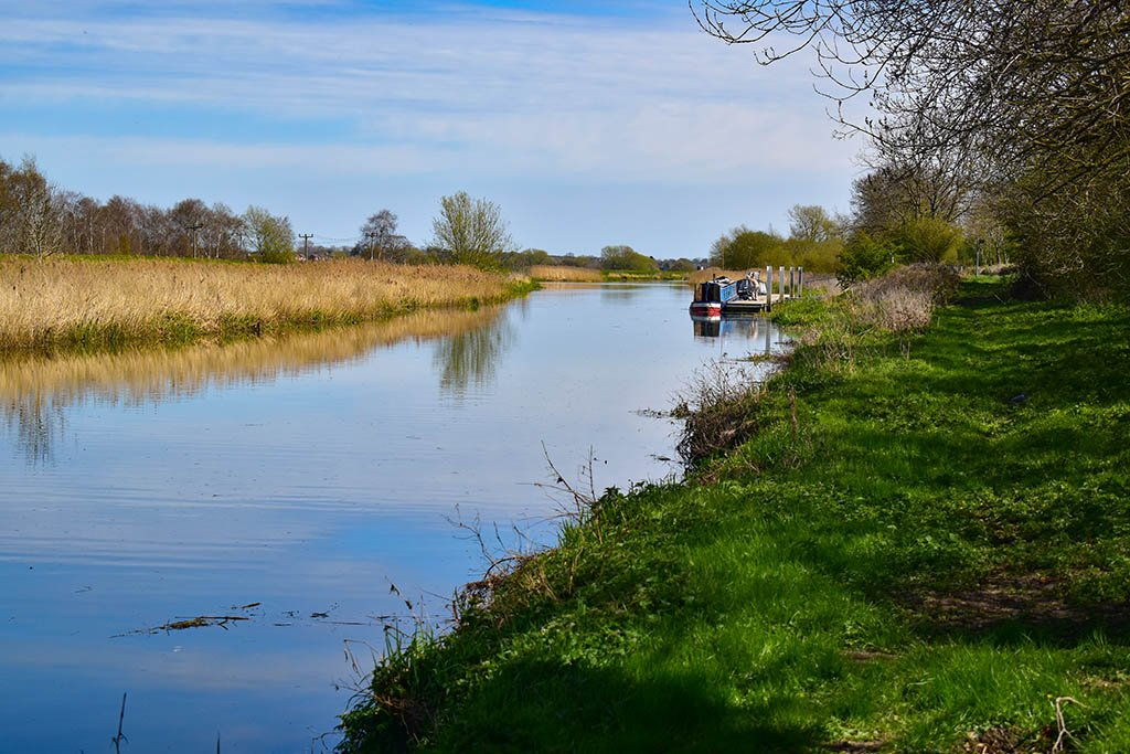 River Witham boat near Lincoln