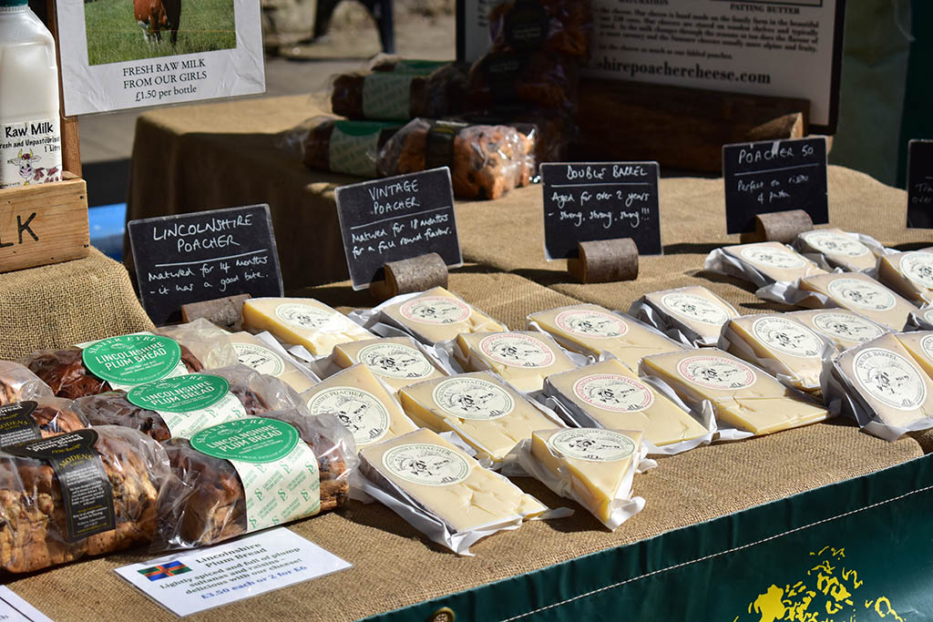 Lincolnshire Poacher Cheese market stall