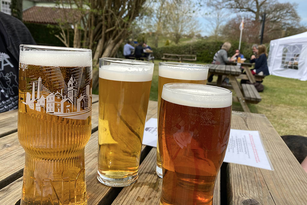 Real ales in Tealby
