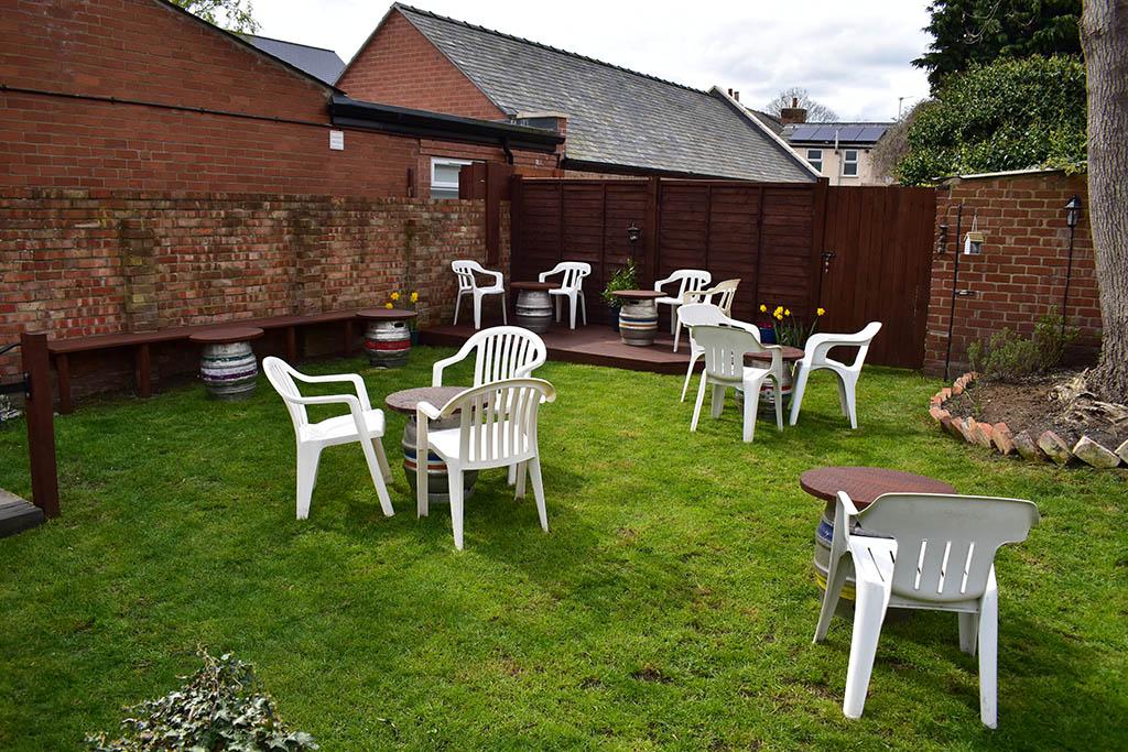 Tiny Tavern garden after refurbishment