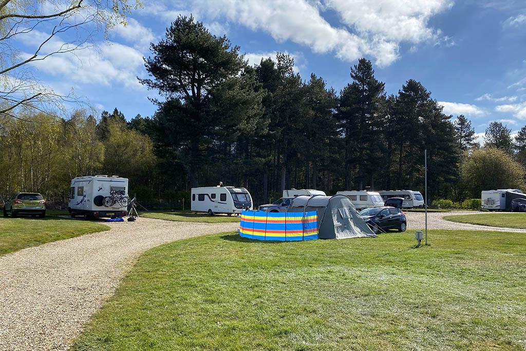 Walesby Woodlands Caravan Park our tent