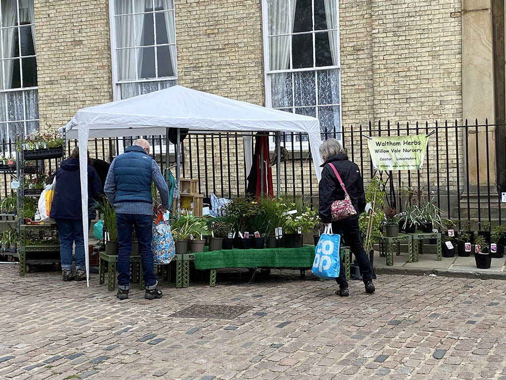 Waltham Herbs stall at Lincoln Farmers' Market