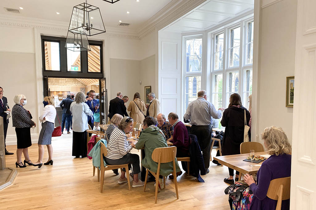 Lincoln Cathedral Cafe opening people