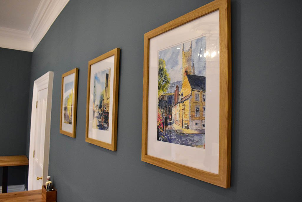 Lincoln Cathedral Cafe paintings
