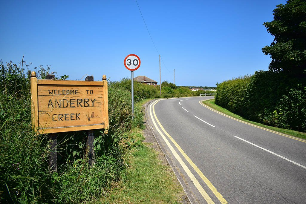 Anderby Creek sign