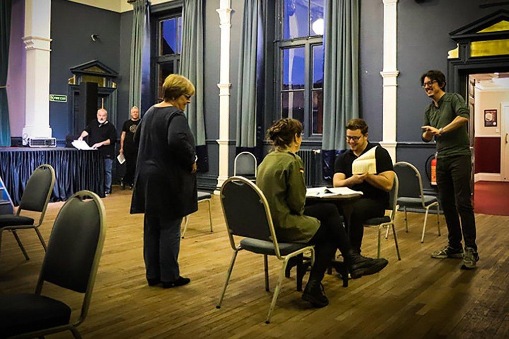 Lincoln Blue Room rehearsal