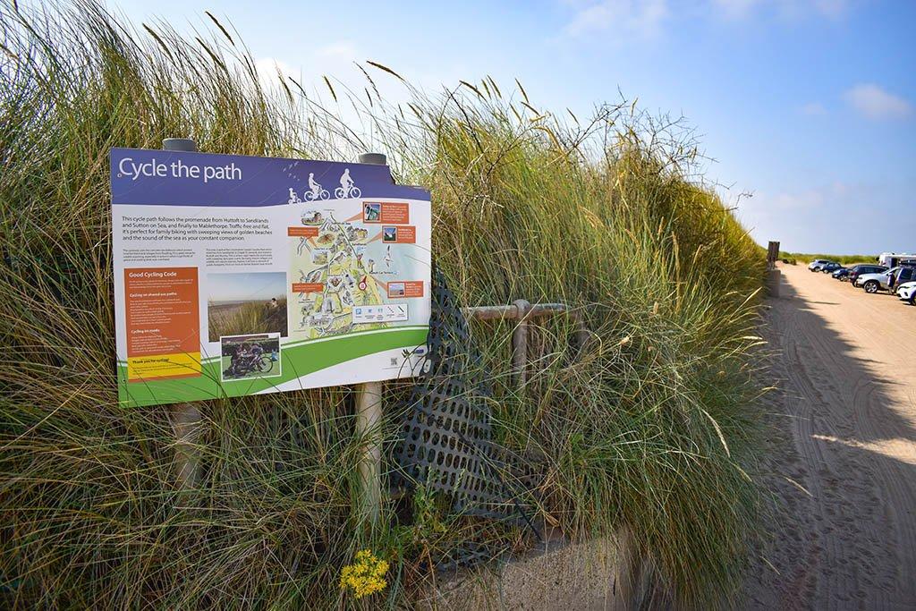 Huttoft cycle path Moggs Eye Beach