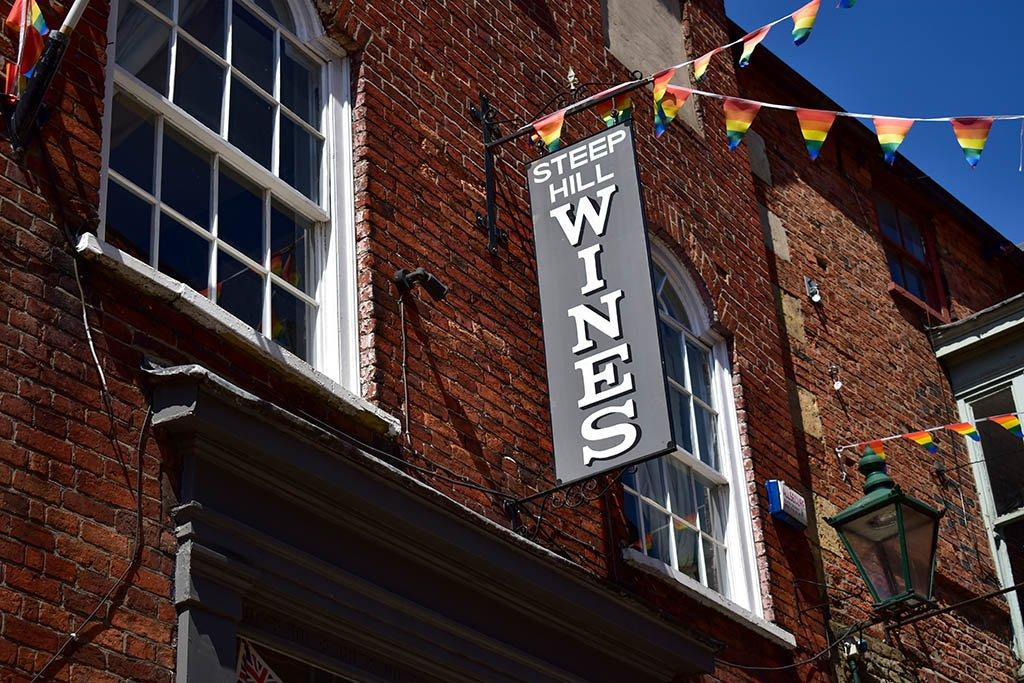 Steep Hill Wines Lincoln sign