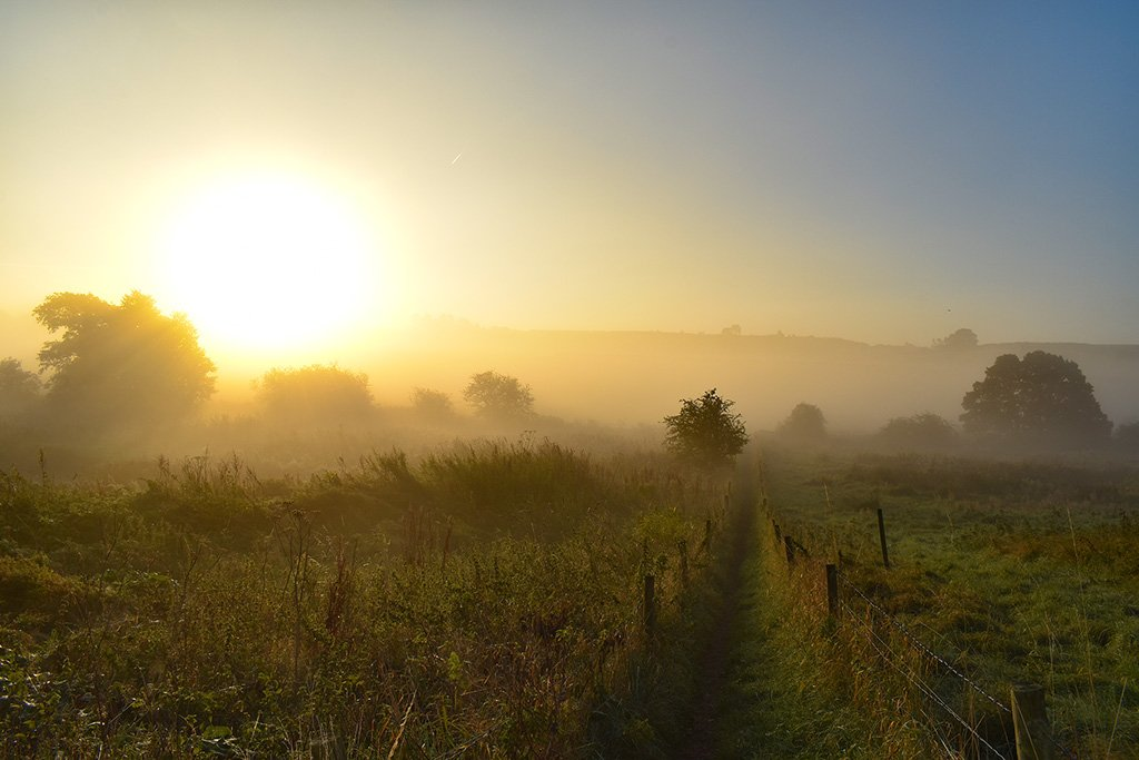 Belchford Lincolnshire Wolds sunrise